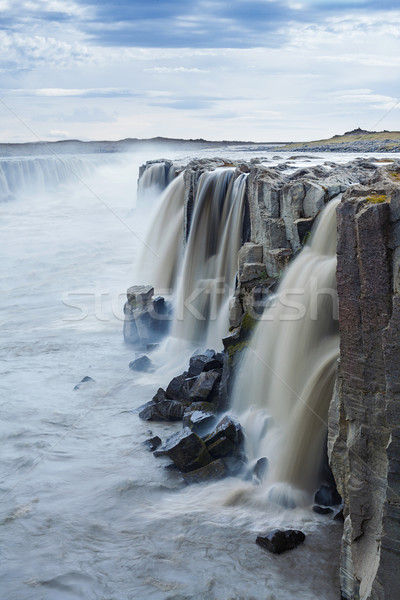 Water landschap Europa land koud stenen Stockfoto © macsim