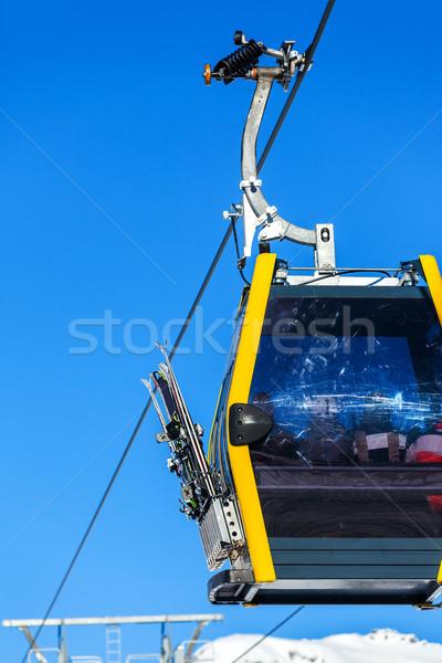 Sí lift székek fülke közelkép fényes Stock fotó © macsim