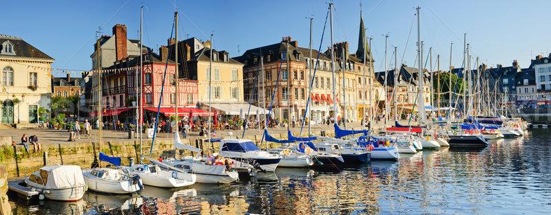 Panorama wygaśnięcia widoku starych port łodzi Zdjęcia stock © macsim