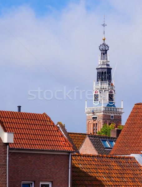 Toren kaas markt nederlands hemel gebouw Stockfoto © macsim