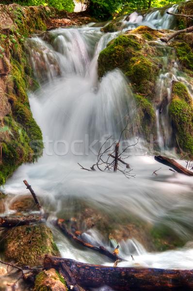 Cascade longue exposition image lac naturelles parc Photo stock © macsim