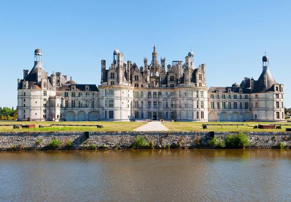 Panoramisch Frankrijk kanaal huis landschap Stockfoto © macsim