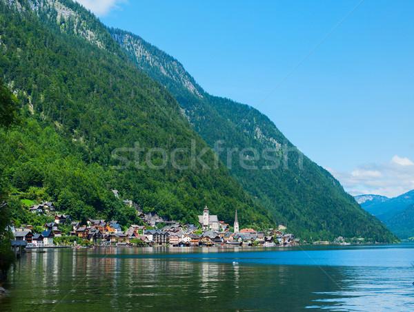 Belle été alpine ville lac voir Photo stock © macsim
