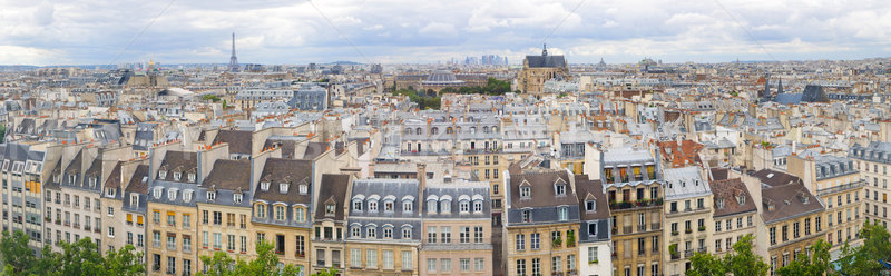 Panorama of of Paris, France with the Eiffel tower Stock photo © macsim