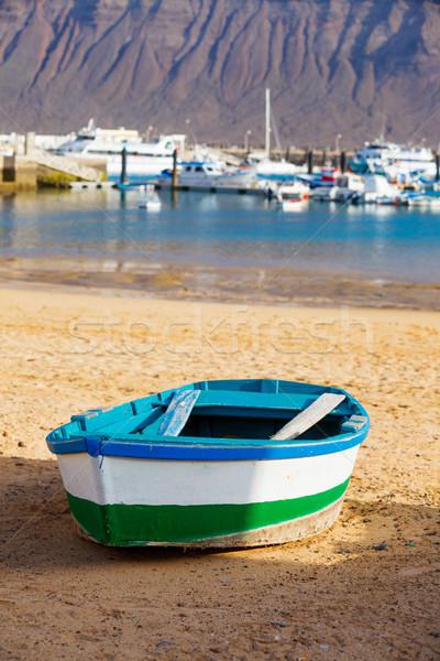 Boot kust boten kanarie strand boom Stockfoto © macsim
