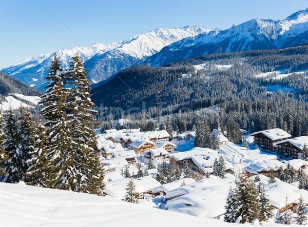 Alpes région panorama nature maison Photo stock © macsim