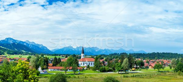 Alpok hegy legelő nyugalmas nyár kilátás Stock fotó © macsim