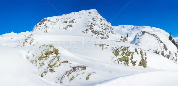 Alpino montanhas neve inverno natureza montanha Foto stock © macsim