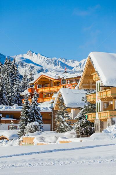 Winter holiday house Stock photo © macsim