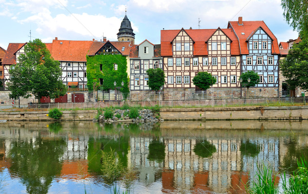 Idyllic city Hann Münden in Germany Stock photo © macsim
