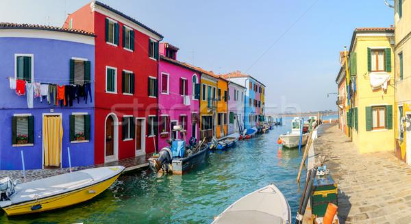 Kleurrijk huizen Italië panorama gebouw verf Stockfoto © macsim