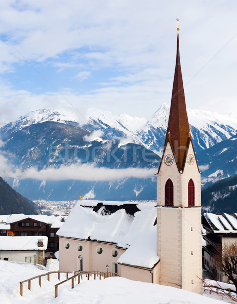 Church in the austrian alps Stock photo © macsim