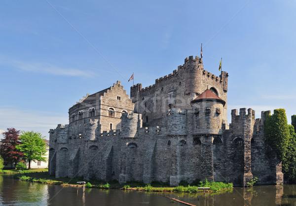 Middeleeuwse kasteel België Europa veiligheid zomer Stockfoto © macsim