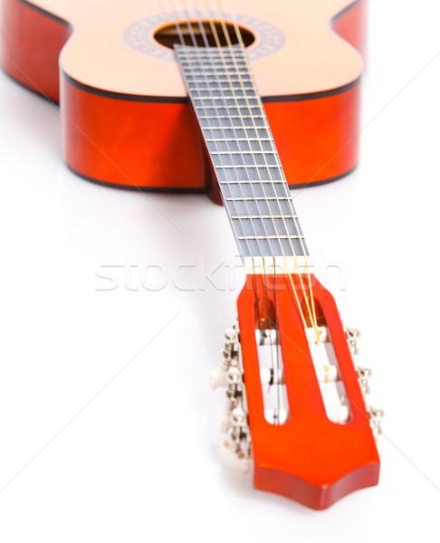 Klassiek spaans gitaar geïsoleerd witte hand Stockfoto © macsim
