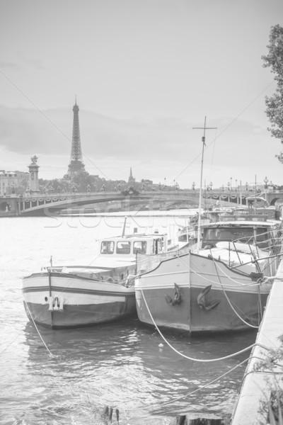 Living barge on the Seine in Paris. Stock photo © macsim