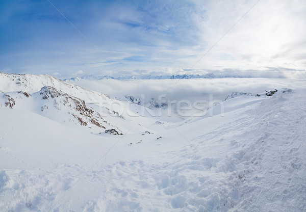 Alpine montagnes neige hiver panorama nature Photo stock © macsim