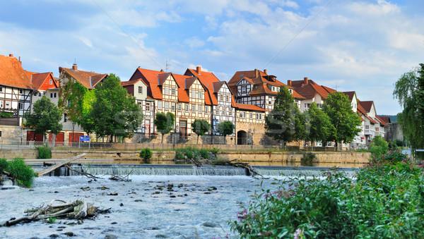 Pastoral şehir Almanya nehir ünlü güzel Stok fotoğraf © macsim