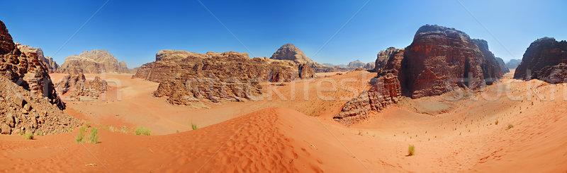 Kos Jordánia panoráma elképesztő kilátás sivatag Stock fotó © macsim