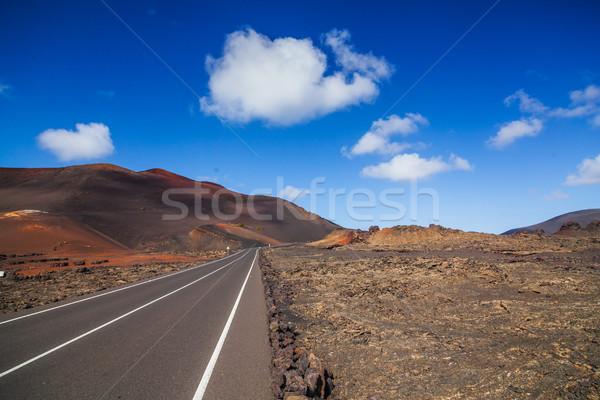 Vide route lave montagne Espagne Photo stock © macsim