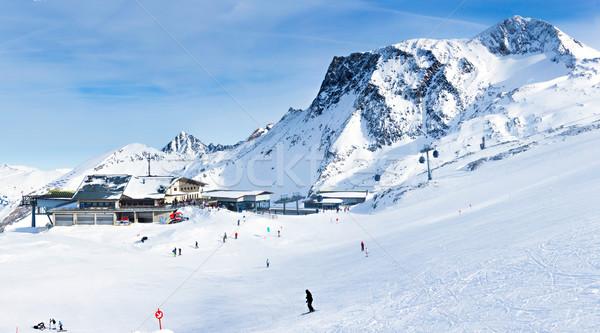 Ski Resort glacier Autriche hiver paysage Photo stock © macsim
