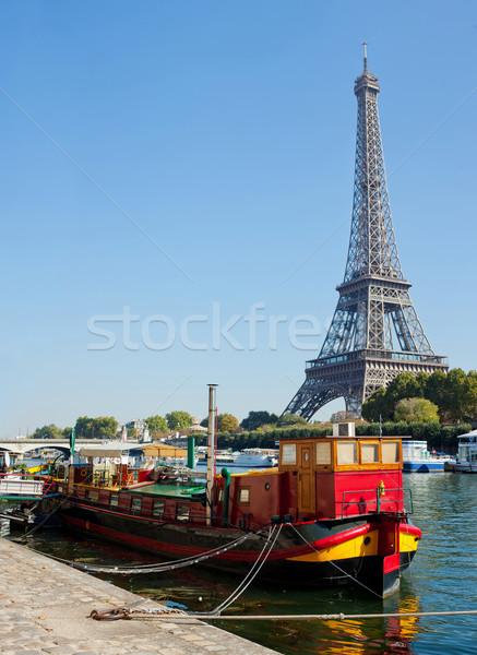 мнение жизни Париж панорамный красный Эйфелева башня Сток-фото © macsim
