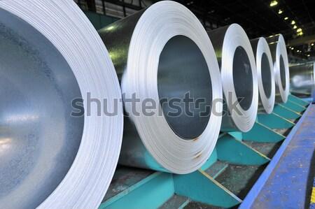Vel staal magazijn achtergrond plaat Stockfoto © mady70