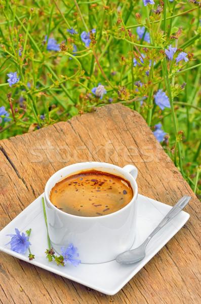 Bebida caliente aislado blanco taza flor Foto stock © mady70