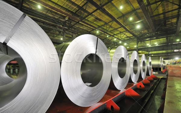 Tekercsek acél lap háttér ipar ipari Stock fotó © mady70