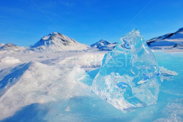 Montanha inverno neve coberto oceano gelo Foto stock © mady70