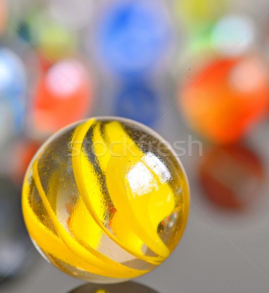 yellow glas ball Stock photo © mady70