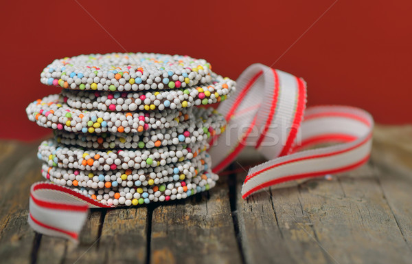 Christmas chocolate Sprinkle and ribbon Stock photo © mady70