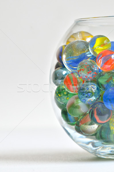 glass marbles in transparent bowl Stock photo © mady70