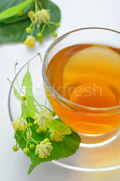 cup with linden tea and flowers  Stock photo © mady70