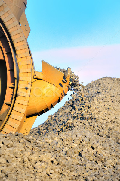 Stock photo: bucket wheel excavator for digging the brown coal
