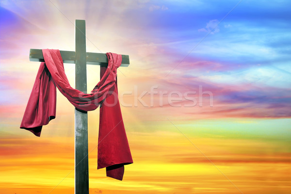 cross on sky background Stock photo © mady70