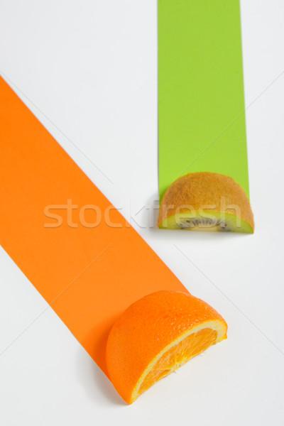 киви оранжевый плод пути белый продовольствие Сток-фото © mady70