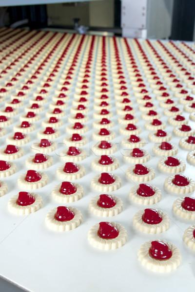 ストックフォト: 生産 · クッキー · 工場 · グループ · パン · 白