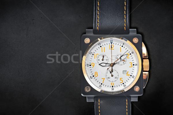 wristwatch on a black Stock photo © mady70