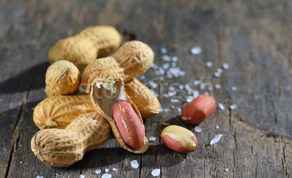арахис изолированный соль природы лист Сток-фото © mady70