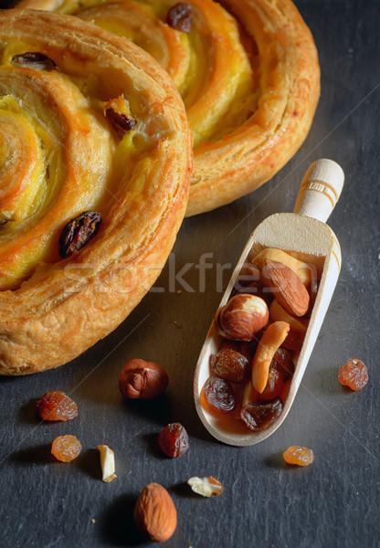 Fresh sweet swirl  with raisins Stock photo © mady70