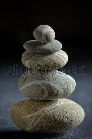 Pyramid of spa stones  Stock photo © mady70