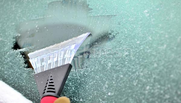 ice scraping Stock photo © mady70