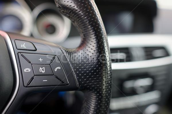 Volante auto dettagli telefono moderno Foto d'archivio © mady70