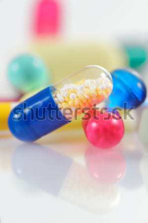 Assorted colored pills Stock photo © mady70