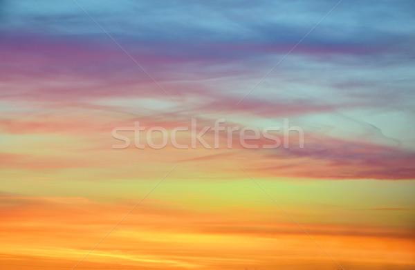 Pastel cor pôr do sol céu Islândia sol Foto stock © mady70