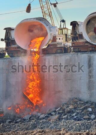 Metal hot stali roślin produkcji Zdjęcia stock © mady70