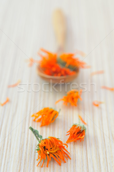 Stock photo: marigold herbal tea