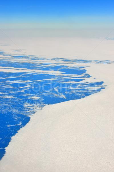 凍結 風景 海 雪 青 ストックフォト © mady70
