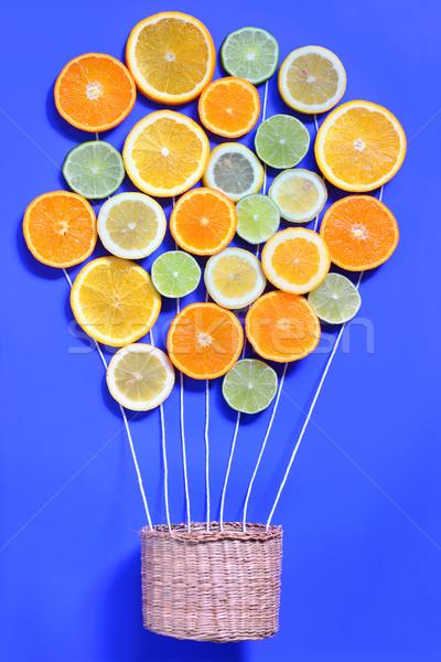 Citrus vruchten abstract mand natuur vruchten Stockfoto © mady70