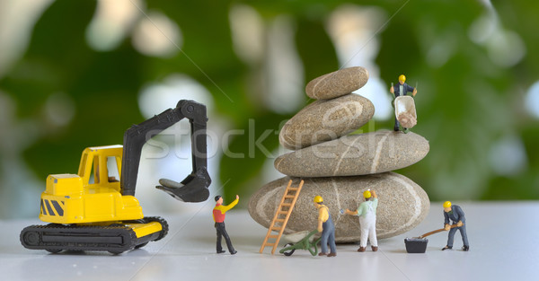 Pebbles stack and figurines  Stock photo © mady70